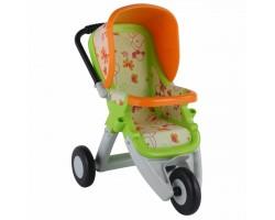 Коляска для кукол №2 Полесье 48141 прогулочная 3-х колёсная зеленая