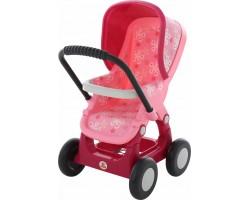 Коляска для кукол №2 Полесье 48158 прогулочная 4-х колёсная розовая