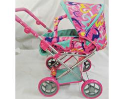 Коляска детская игрушечная для кукол MELOGO 9346 |Розово-бирюзовая расцветка