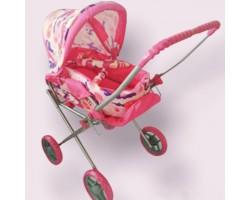 Коляска детская игровая для кукол Melogo 9391|Розовоя с узором расцветка